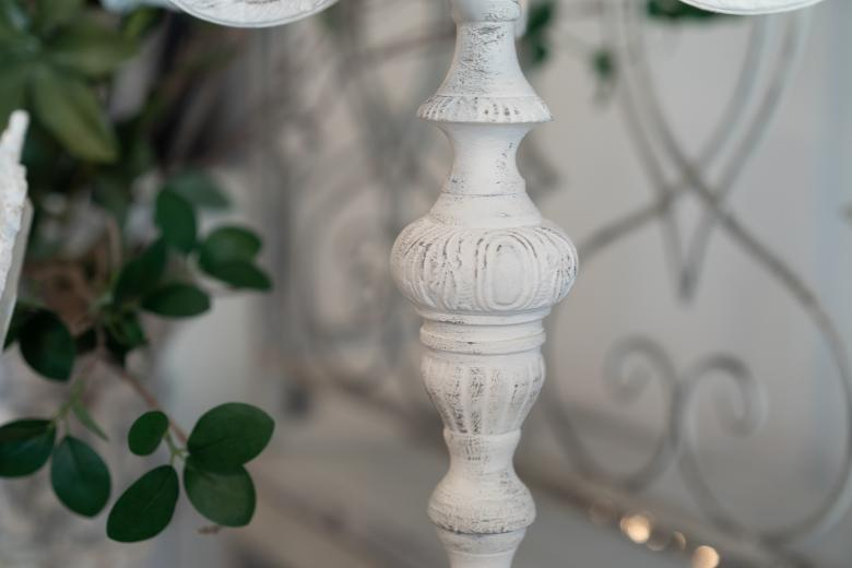 White candle holder w/ 5 arms